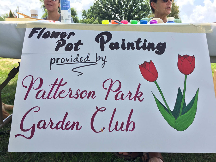Flower Pot Painting by the Patterson Park Garden Club