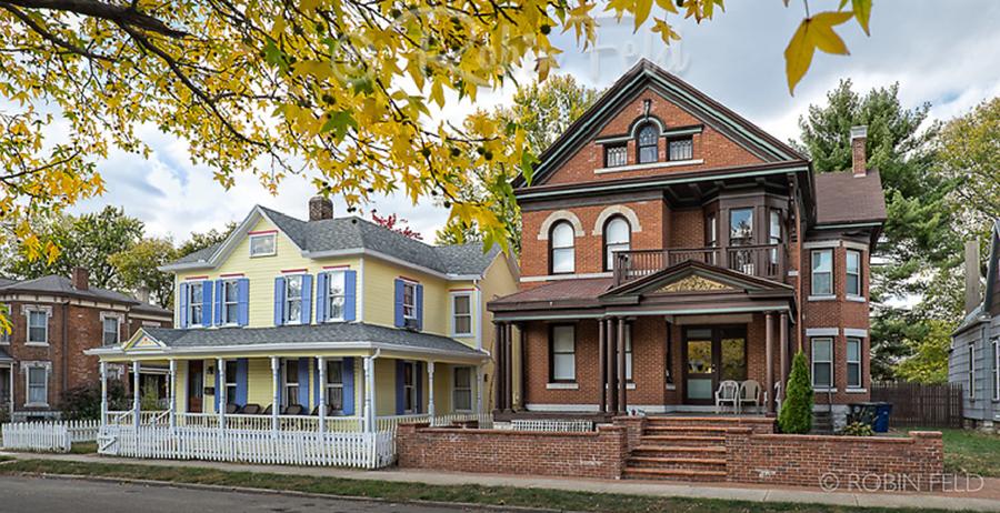 Residential street in South Park, Dayton, Ohio