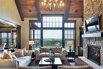 Large windows in a house helps increase home energy savings