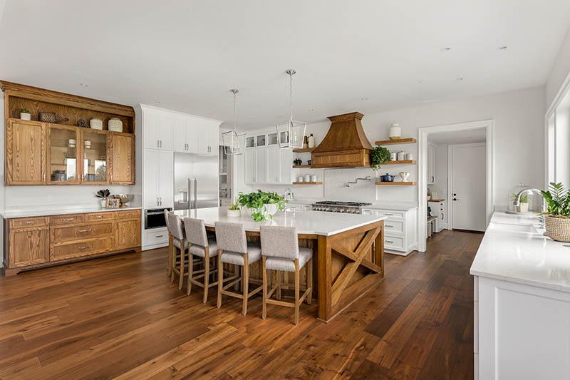 Stunning kitchen with wooden elements