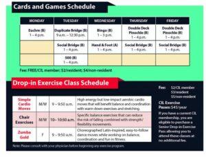 Charles I. Lathrem Senior Center activity schedule